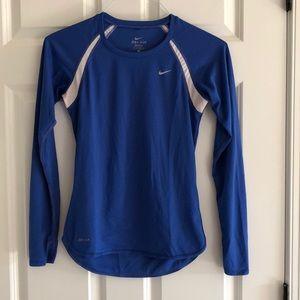 Long sleeve women's Nike dri-fit athletic shirt